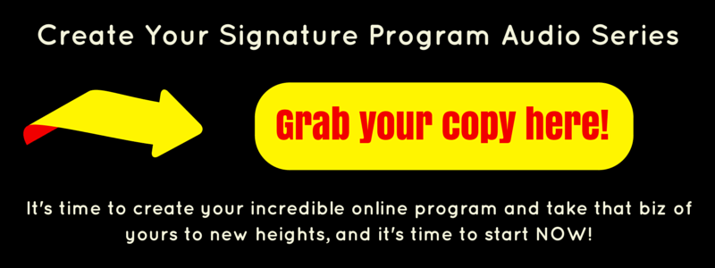 Order button for Create Your Signature Audio Program